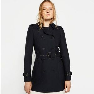 Zara Navy Trench Coat